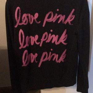 Tops - 3/4 zip pink sweat shirt